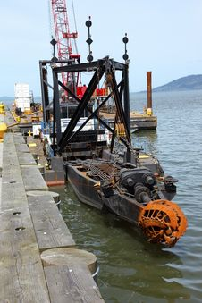 Free Industrial Dredging Mechanism, Astoria Oregon. Royalty Free Stock Photography - 19372547