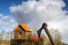 Free Wooden House Four Royalty Free Stock Images - 19372769