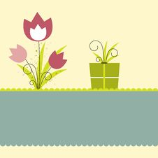 Free Background With Flowers. Vector Illustration Stock Photo - 19373840
