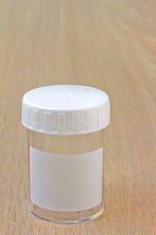 Empty Specimen Bottle Stock Photography