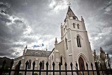 Sinister Photo Of An Imposing Church Exterior Stock Image