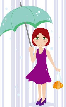 Free Umbrella Girl Stock Photo - 19375340