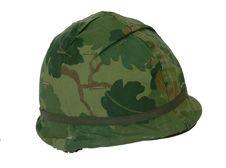 US Vietnam War American M1 Steel Helmet Royalty Free Stock Images