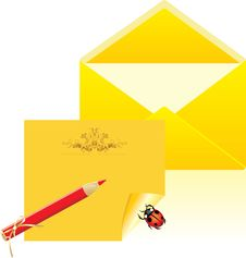 Free Letter And Open Envelope Royalty Free Stock Photo - 19376675