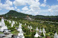 Free French Garden With White Pagoda Royalty Free Stock Photos - 19376948