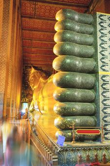 Free The Golden Reclining Buddha, Thailand Stock Photography - 19377492