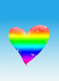 Free Colorful Heart Royalty Free Stock Image - 19377706