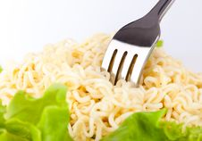 Vermicelli And Lettuce Stock Image
