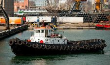 Free Tug Boat In The Port Royalty Free Stock Image - 19378416