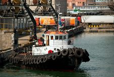 Tug Boat In The Port Royalty Free Stock Image