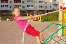 Free Girl Keeps For A Rope Stock Images - 19378744