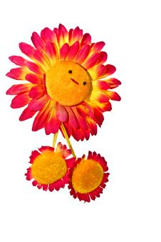 Free Isolated Toy Of Smiling Sunflower Stock Images - 19378814