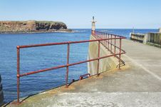 Eyemouth Harbour Pier Entrance Stock Images