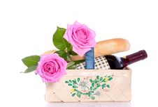 Free A Romantic Picnic Basket Stock Photo - 19379950