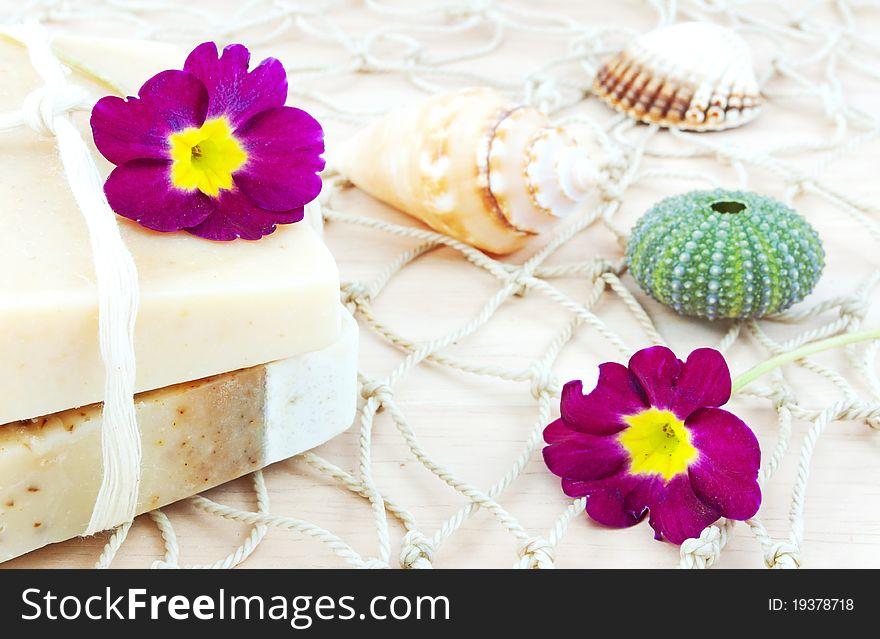 Handmade soap still life