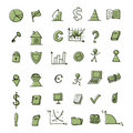 Free Set Of Finance Icons For Your Design Royalty Free Stock Image - 19384276