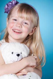 Free Happy Smiling Little Girl With Toy Stock Images - 19380874
