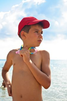 Free A Boy In A Baseball Cap Royalty Free Stock Images - 19381299