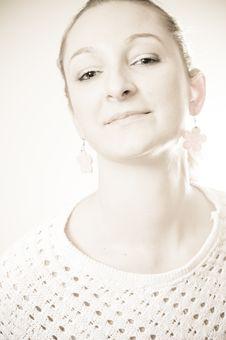 Beauty Portrait Of A Blond Girl Stock Photography