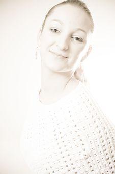 Beauty Portrait Of A Blond Girl Stock Photos
