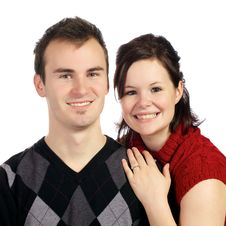Young Couple Poses In Love Royalty Free Stock Images