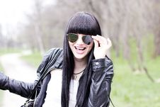 Free Beautiful Young Woman Wearing Sunglasses Royalty Free Stock Images - 19382609