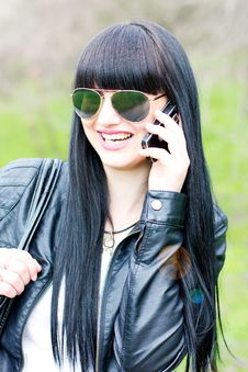 Free Happy Woman With Cell Phone Royalty Free Stock Images - 19382619