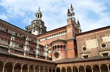 Free Italian Monastery Certosa Di Pavia Royalty Free Stock Photo - 19382695