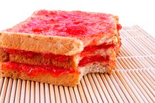 Whole Wheat Bread With Strawberry Jam