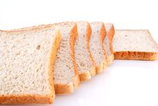 Free Whole Wheat Bread Isolated Royalty Free Stock Photography - 19383917