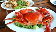 Free Cooked Crabs Royalty Free Stock Photography - 19384427