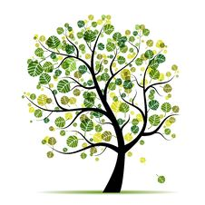 Free Spring Tree Green For Your Design Royalty Free Stock Images - 19384579