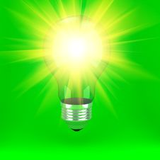 Free Bulb Over Background Royalty Free Stock Photo - 19384645