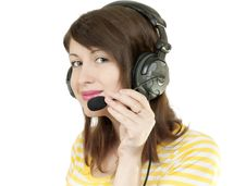 Free Girl In Headphones Royalty Free Stock Photo - 19384705