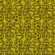 Balls Seamless Background. Stock Image