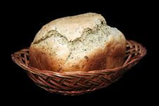 Free Loaf Of Bread In Basket. Stock Photo - 19385080