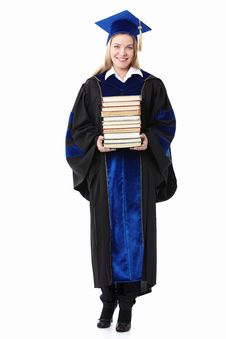 Free Girl With Books Stock Photo - 19385190