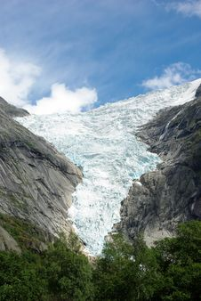 Free Glacier Briksdale In Norway, Europe Royalty Free Stock Photo - 19385755
