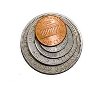 Free American Coins Stock Images - 19387604