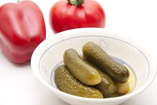 Free Gherkins Royalty Free Stock Photography - 19387877