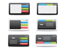Web Business Card Set 05