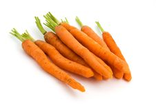 Free Pile Of Carrots Over White Royalty Free Stock Photo - 19388785