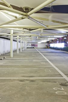 Free Night Vies Of A Car Park Stock Photo - 19389020