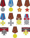 Free Set Of Crosses And Medals Royalty Free Stock Photo - 19390305