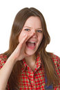 Free Screaming Young Woman Stock Photography - 19391012