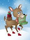 Free Santa S Little Christmas Reindeer Helper Royalty Free Stock Image - 19394146