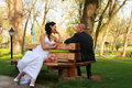 Free BRIDE AND GROOM IN A PARK Stock Images - 19395524