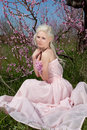 Free Young Pretty Blond Woman In Blooming Garden Royalty Free Stock Photo - 19396505