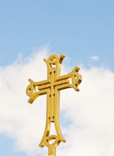 Free Golden Cross Royalty Free Stock Photo - 19390095