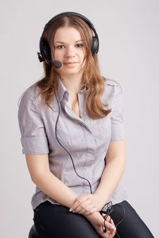 Free The Girl In Headphones Stock Photography - 19390192